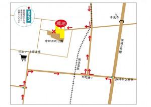坪井4丁目誘導MAP