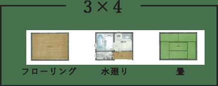 間取り例3×4