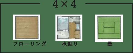 間取り例4×4