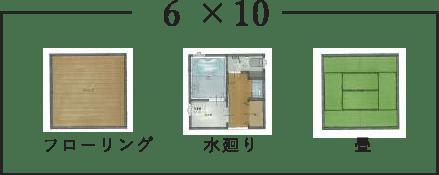 間取り例6×10